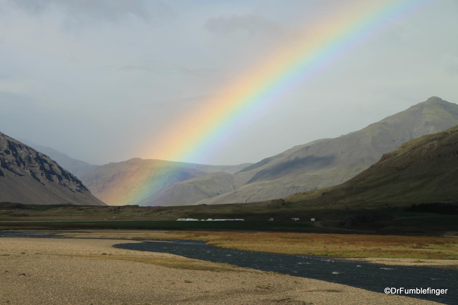 Rainbow over North Iceland