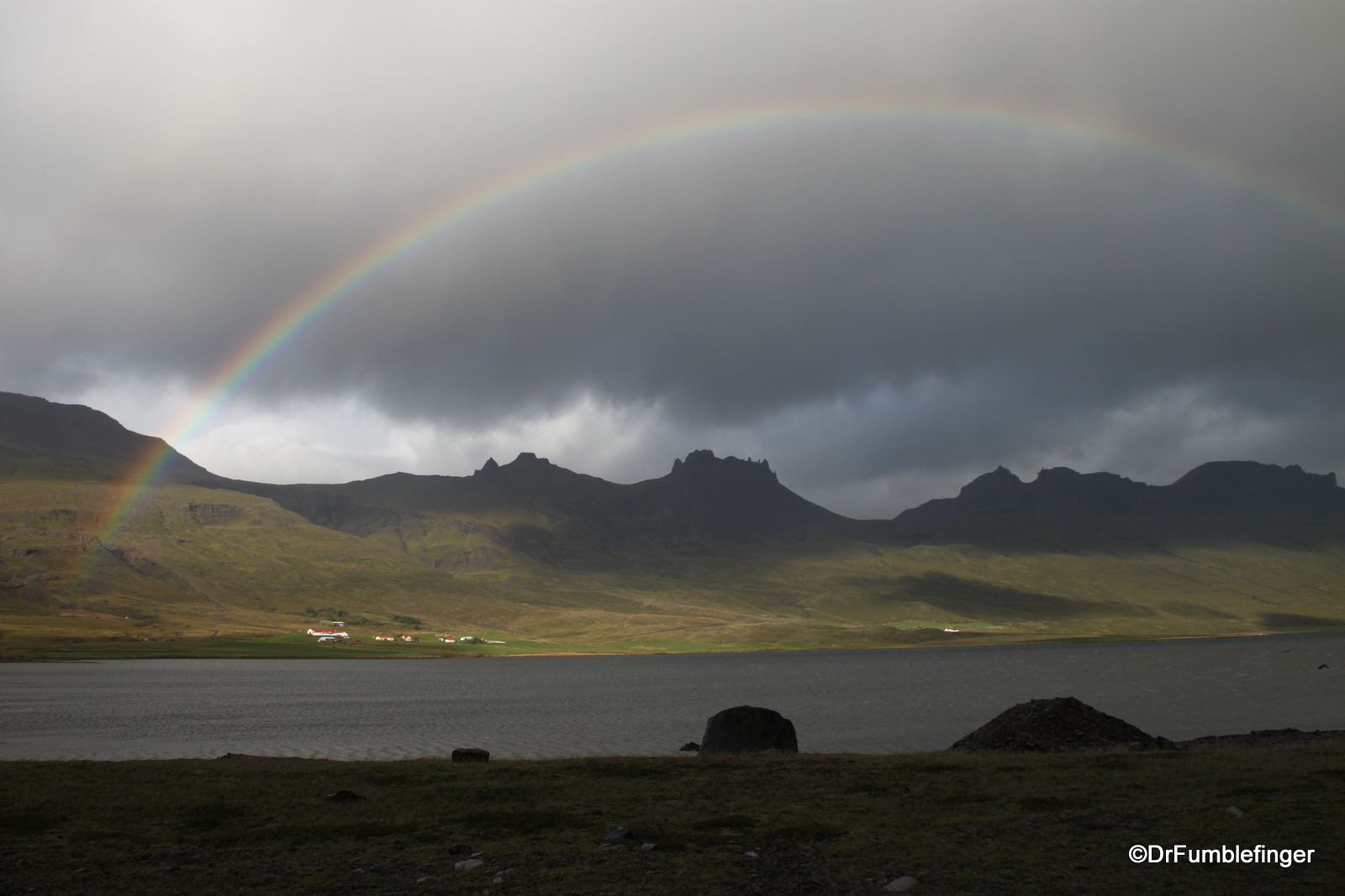 Rainbow over the Eastern Fjordlands, Iceland