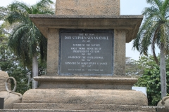 Independence Memorial Hall, Colombo. Statue of D.S. Senanayake, Sri Lanka's first prime minister