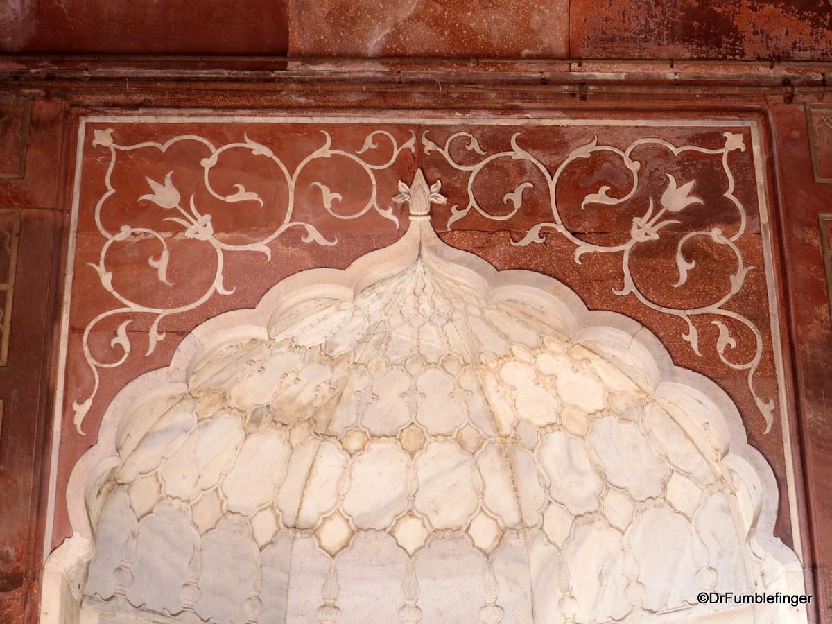 Interior details, Jama Masjid, Delhi