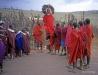 Maasai tribe, Tanzania: men jumping