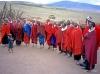 Maasai tribe, Tanzania: women singing