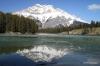 Cascade Mountain reflected on Johnson Lake
