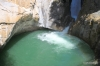Spash pool of the Lower Falls, Johnston Canyon