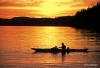 Kayaking at sunset, Johnston Strait