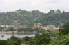 Kandy Lake and town of Kandy