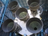 Massive exhaust nossles, Stage 1 booster, Saturn V rocket, Cape Canaveral
