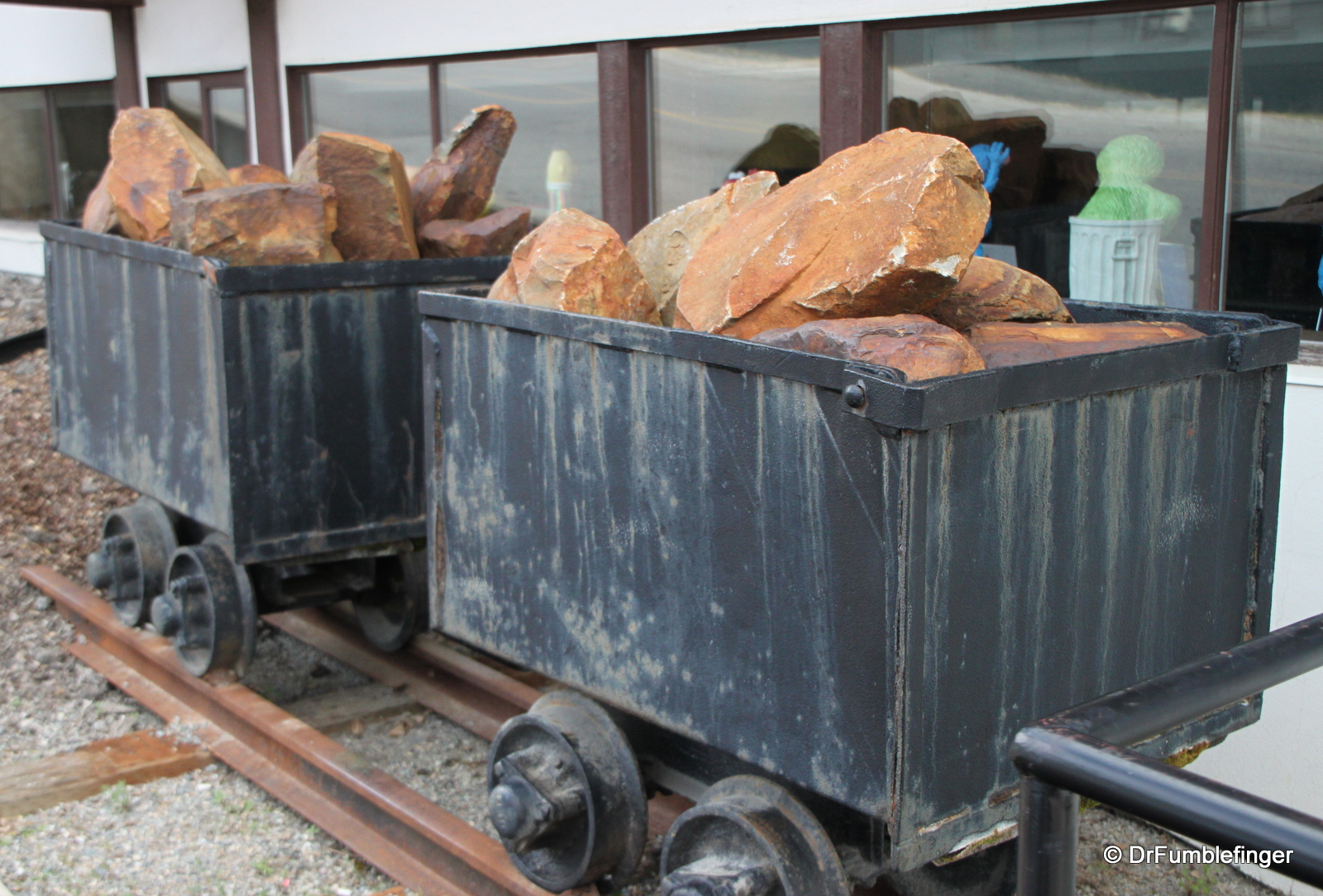 Mining carts and ore, Kimberley Library