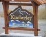 Roadside sign at entrance to Kimberley