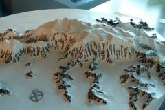Mt. Logan, Canada's tallest,, Kluane National Park Visitor Center