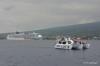 Ships off Kona coast