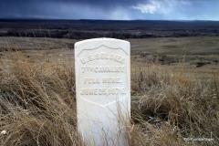 Soldier's grave marker, Little Bighorn Battlefield National Monument