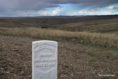 Soldier's grave markers, Little Bighorn Battlefield National Monument