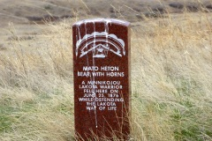 Indian's  grave markers, Little Bighorn Battlefield National Monument