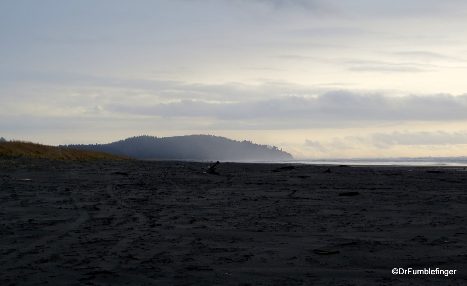 Cape Disappointment is seen in the distance