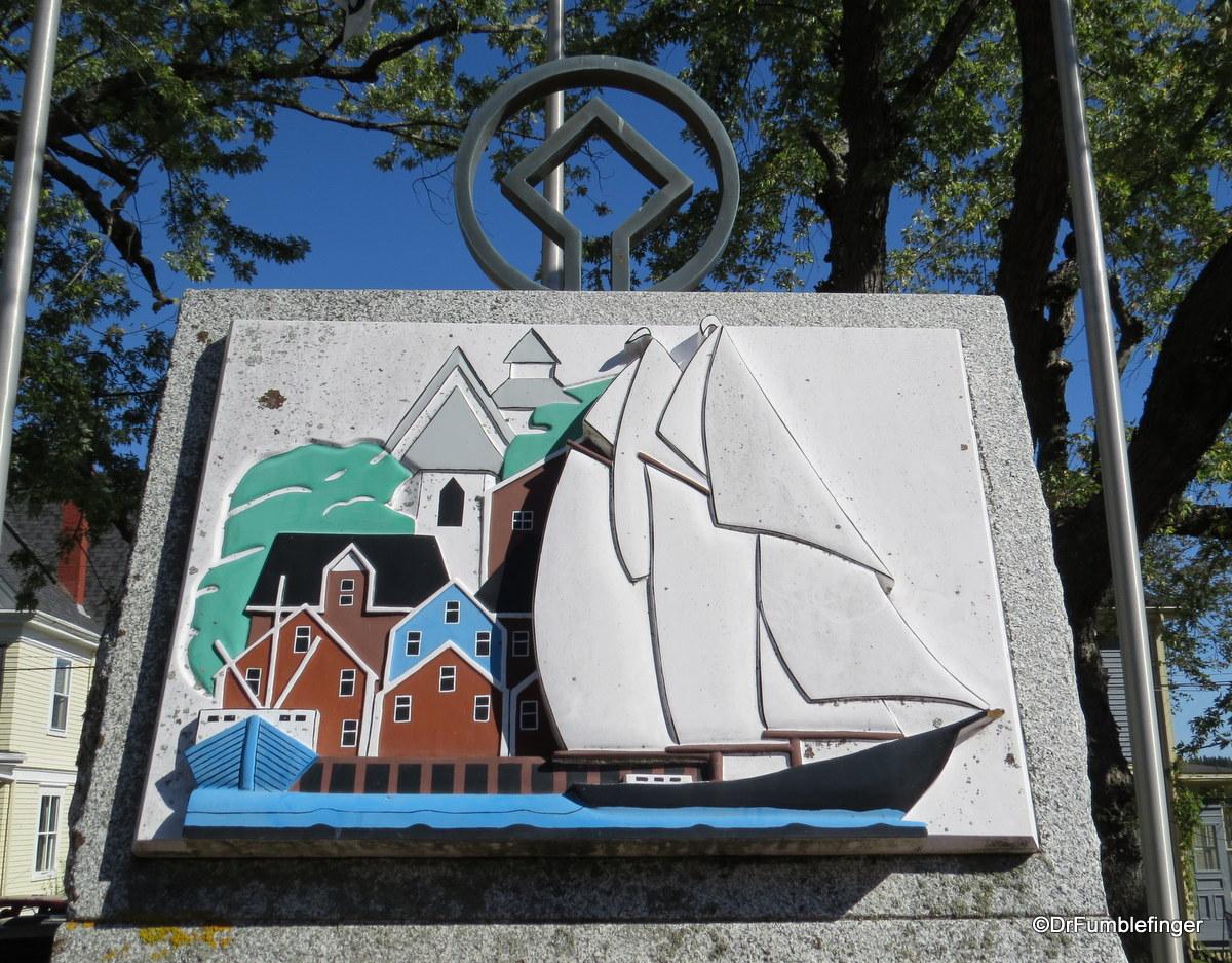 UNESCO plaque, Lunenberg, Nova Scotia