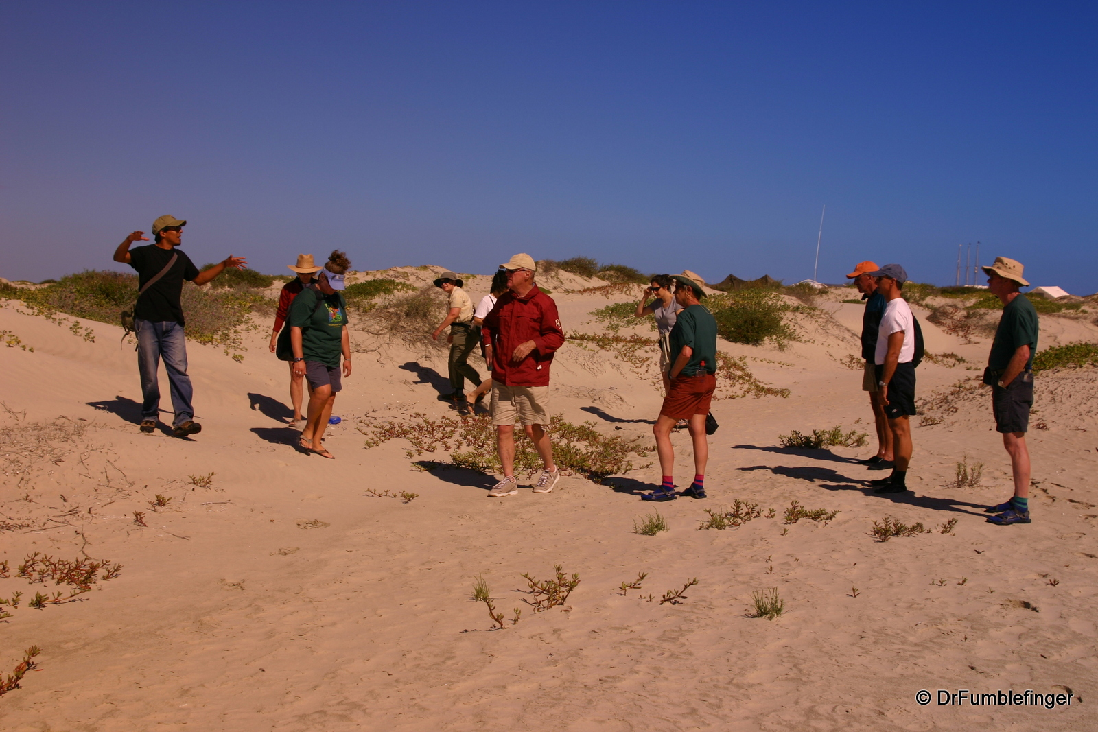 Going on hike, Magdalena Bay