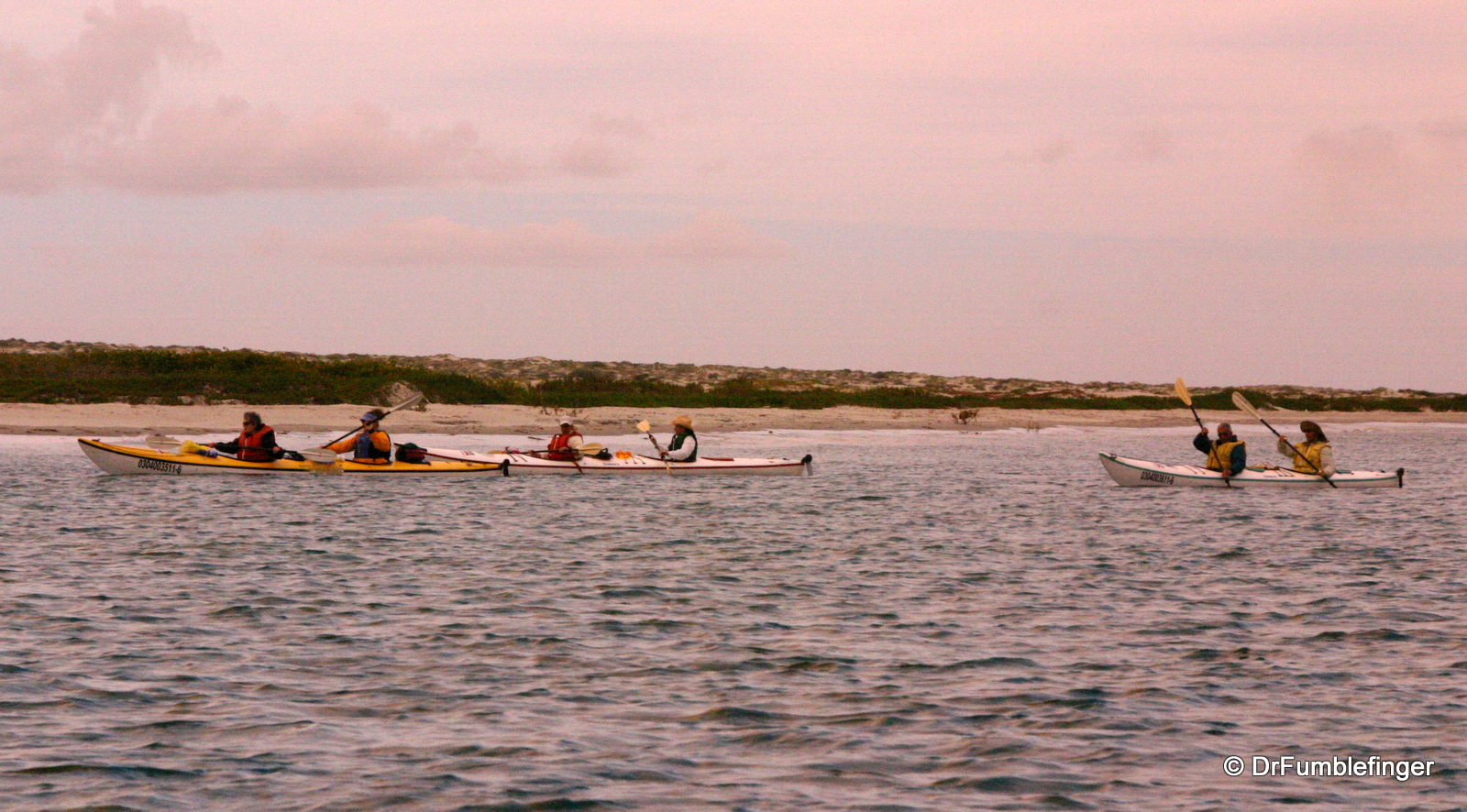Kayaking near our camp, Magdalena Bay