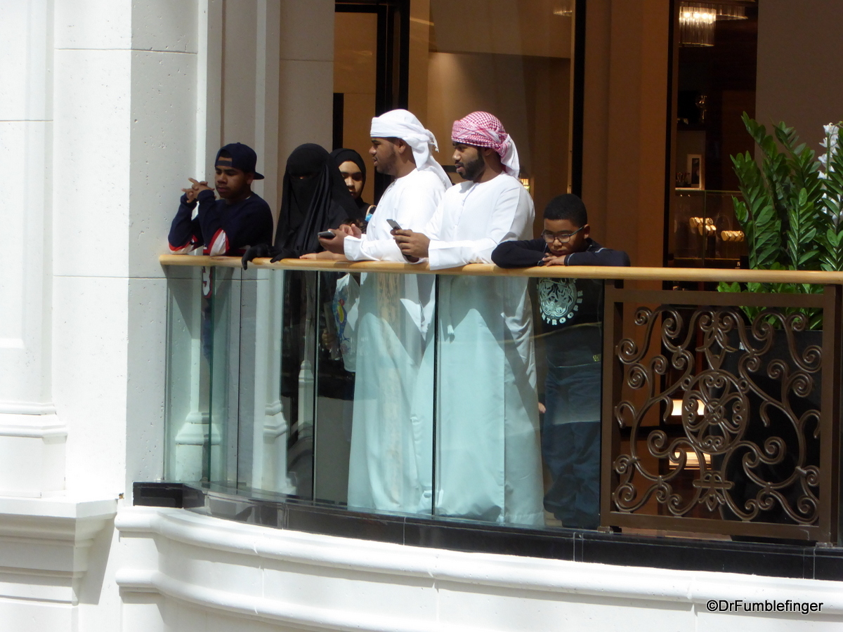 Shoppers at the Mall of the Emirates, Dubai