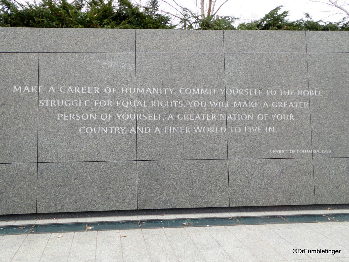 Martin Luther King Jr Memorial, Washington D.C.