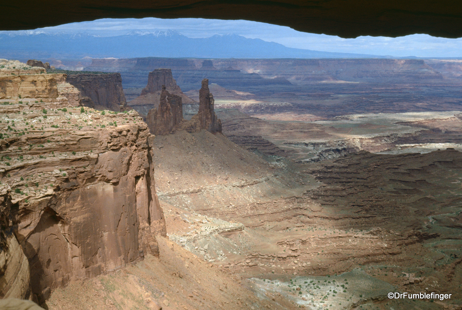 View through Mesa Arch, Canyonlands National Park