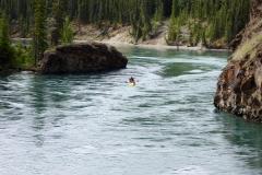 Canoeing through Miles Canyon, Whitehorse