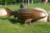 Riverside salmon artwork