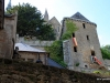 View uphill to abbey of Mont-St-Michel