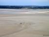 Low tide bay view, terrace, Mont-St-Michel