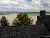 View back to mainland from Mont-St-Michel