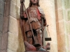 Statue of archangel Michael, church