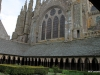 View of church from cloisters, Mont-St-Michel