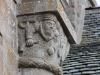 Detail of carving, cloisters, Mont-St-Michel