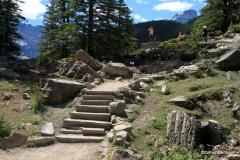 Trail up the Rockpile, Moraine Lake, Banff NP