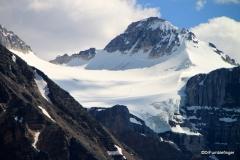 Mountains surrounding road into Moraine Lake, Banff NP