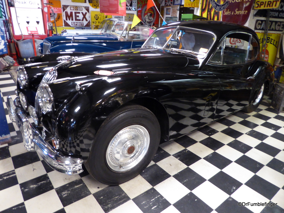 Cotswold Motoring Museum and Toy Collection. 1956 Jaguar.  XK140