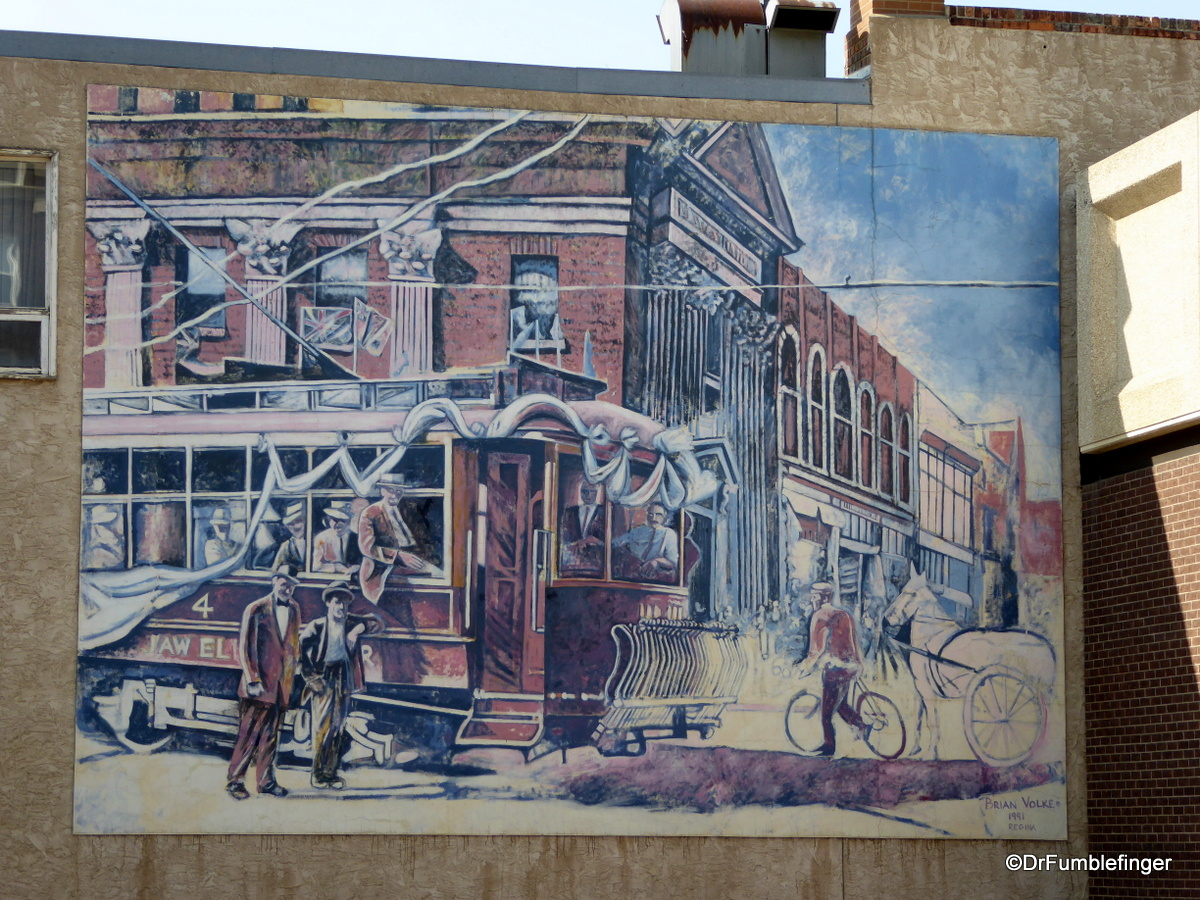 Moose Jaw, Saskatchewan.  The First Run (referring to the first street car in 1911)