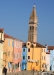 Burano, homes and leaning church tower
