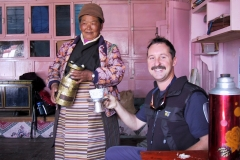 Our guide, Frank, in a Sherpa home