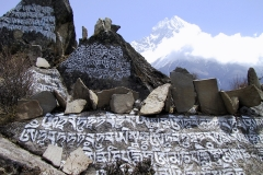 Buddhist prayer stones, Namche Bazaar