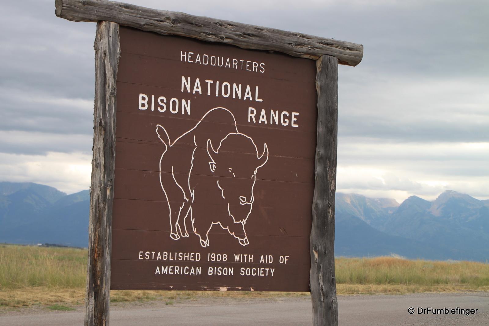 National Bison Refuge entrance sign