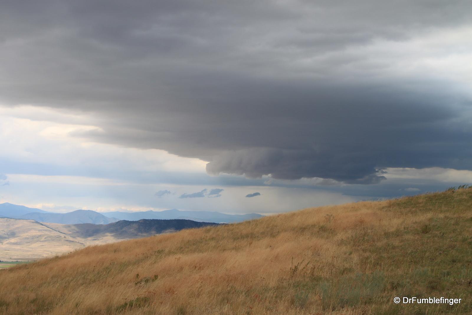 Thunderstorm over National Bison Refuge