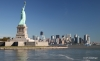 Manhattan skyline and Statue of Liberty