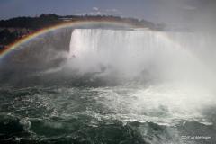 Rainbow over Horseshoe Falls