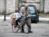 Old man with bike, Chartres, France