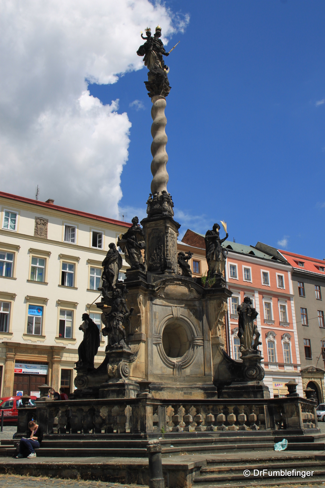 Plague column in Lower Square