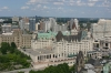 View from Peace Tower, Chateau Laurier