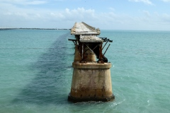 Hurricane -damaged and abandoned section of Flagler's Railway, Overseas Highway, Florida Keys