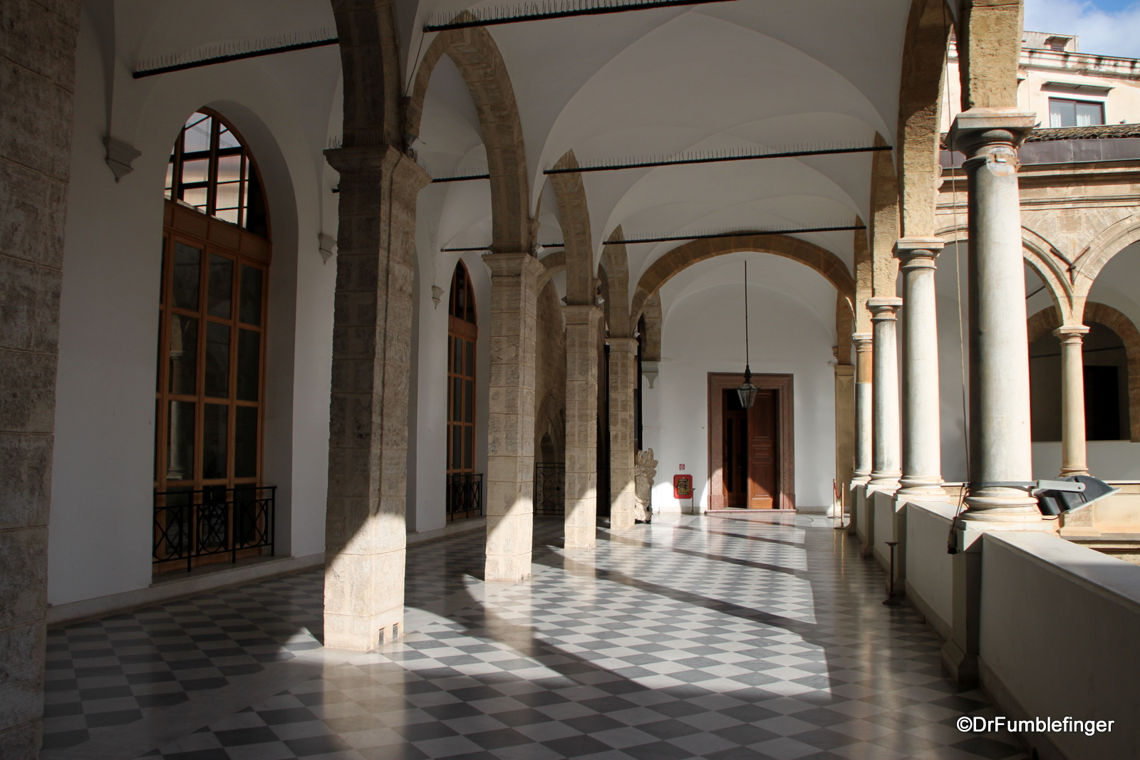 Interior of Parliament side of Palermo's Palazzo del Normanni
