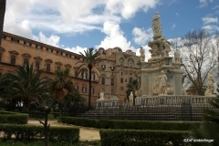 Parliament side of Palermo's Palazzo del Normanni
